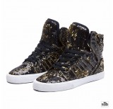 supra skytop black gold white