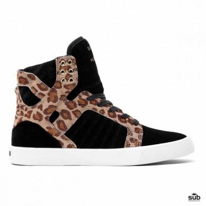 supra skytop black cheetah white