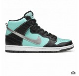 nike sb dunk hi aqua chrome diamond
