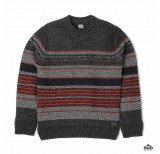 edwin docker sweater stripes gunmetal stripes