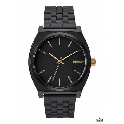 nixon time teller matte black gold
