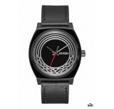 nixon time teller leather sw 37mm kylo black