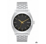nixon time teller black stamped gold