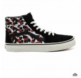 vans sk8 hi leopard black true white