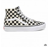 vans sk8 hi checkerboard tapered black white