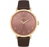 nixon arrow leather light gold marsala
